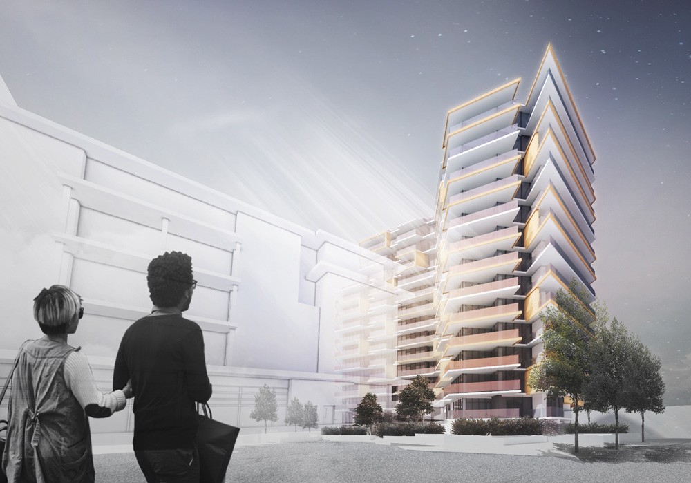 Arno Matis Architecture - Wind-Shaped Tower Semiah